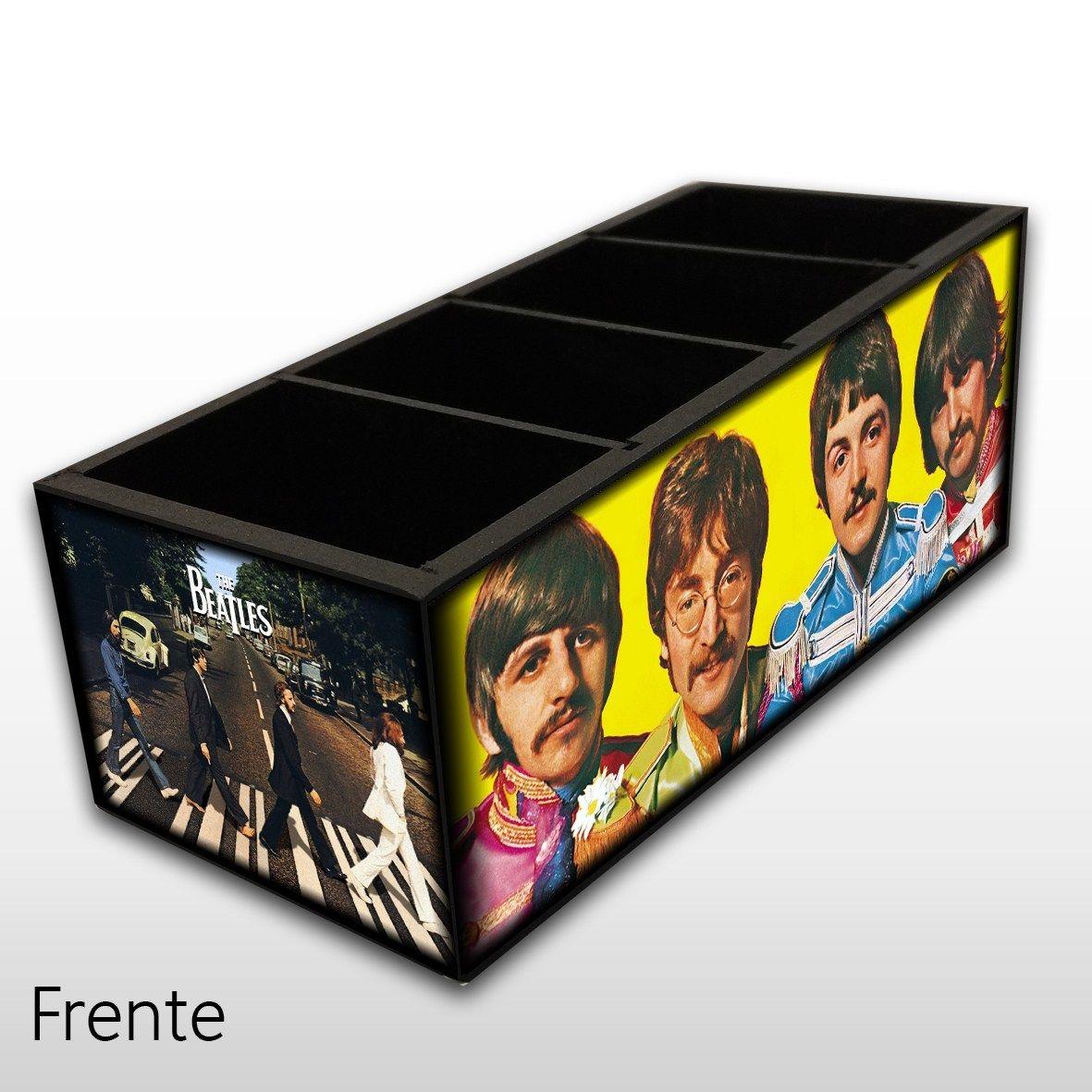 The Beatles - Porta Controles em Madeira MDF - 4 Espaços - Mr. Rock
