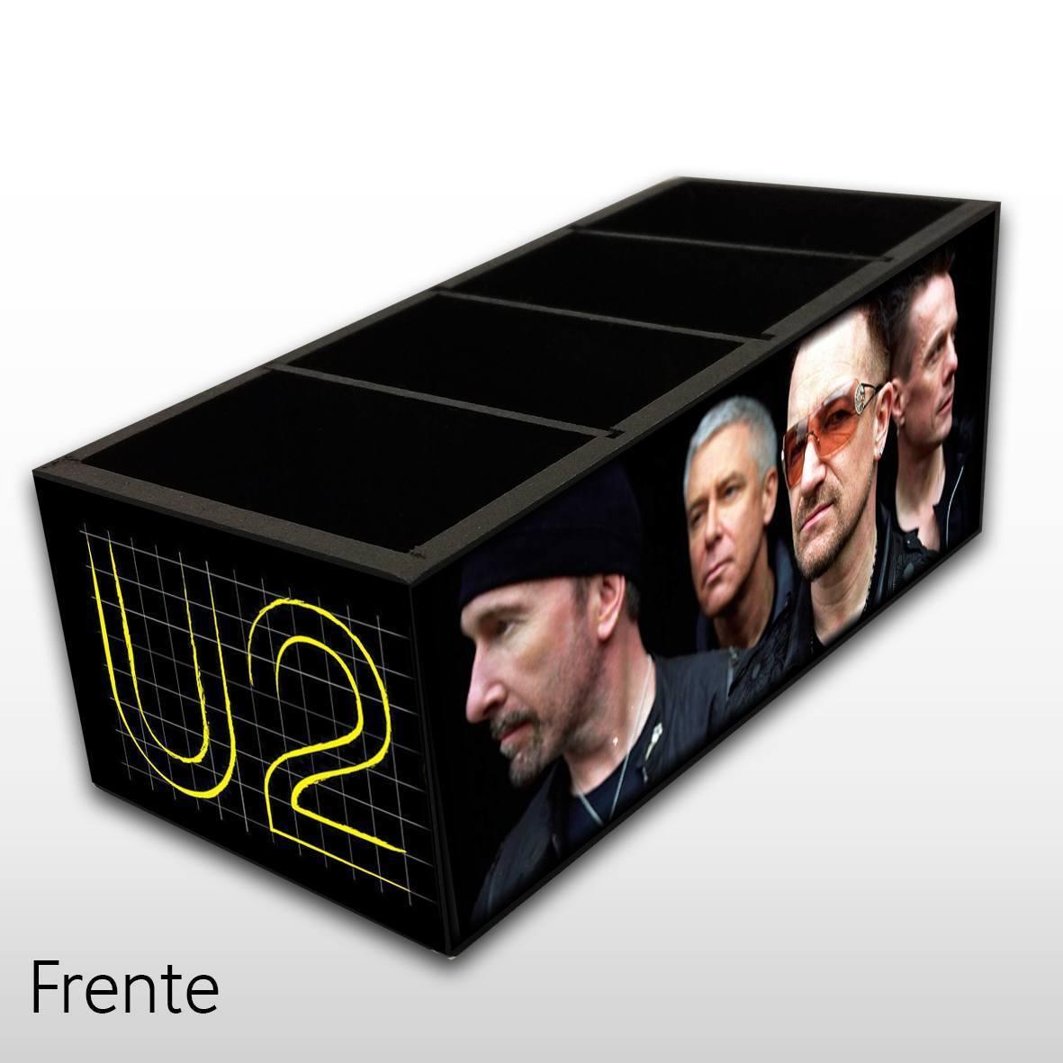 U2 - Porta Controles em Madeira MDF - 4 Espaços - Mr. Rock