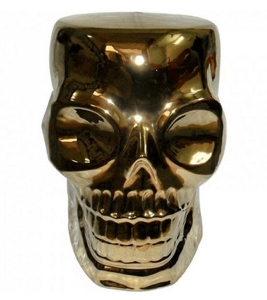 Pufe Skull Gold – Rvalentim