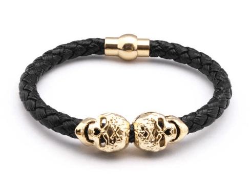 Pulseira Imã Skull Dourada – SkullAchando