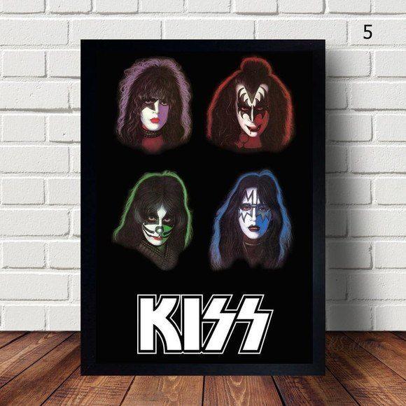 Quadro Decorativo KISS