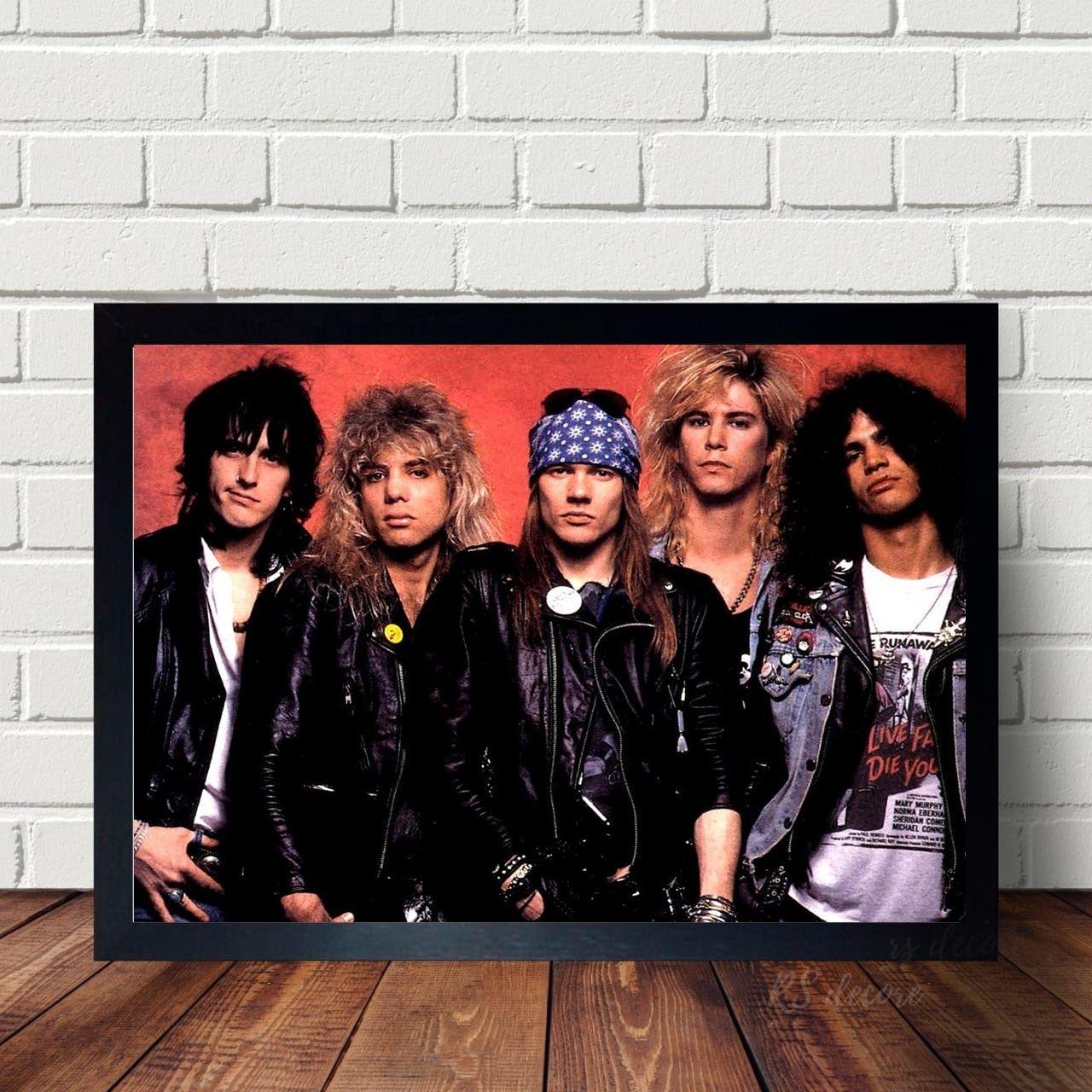 Quadro Guns N Roses Fotografia