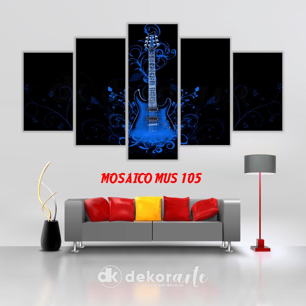 Quadro Mosaico Decorativo MUS105