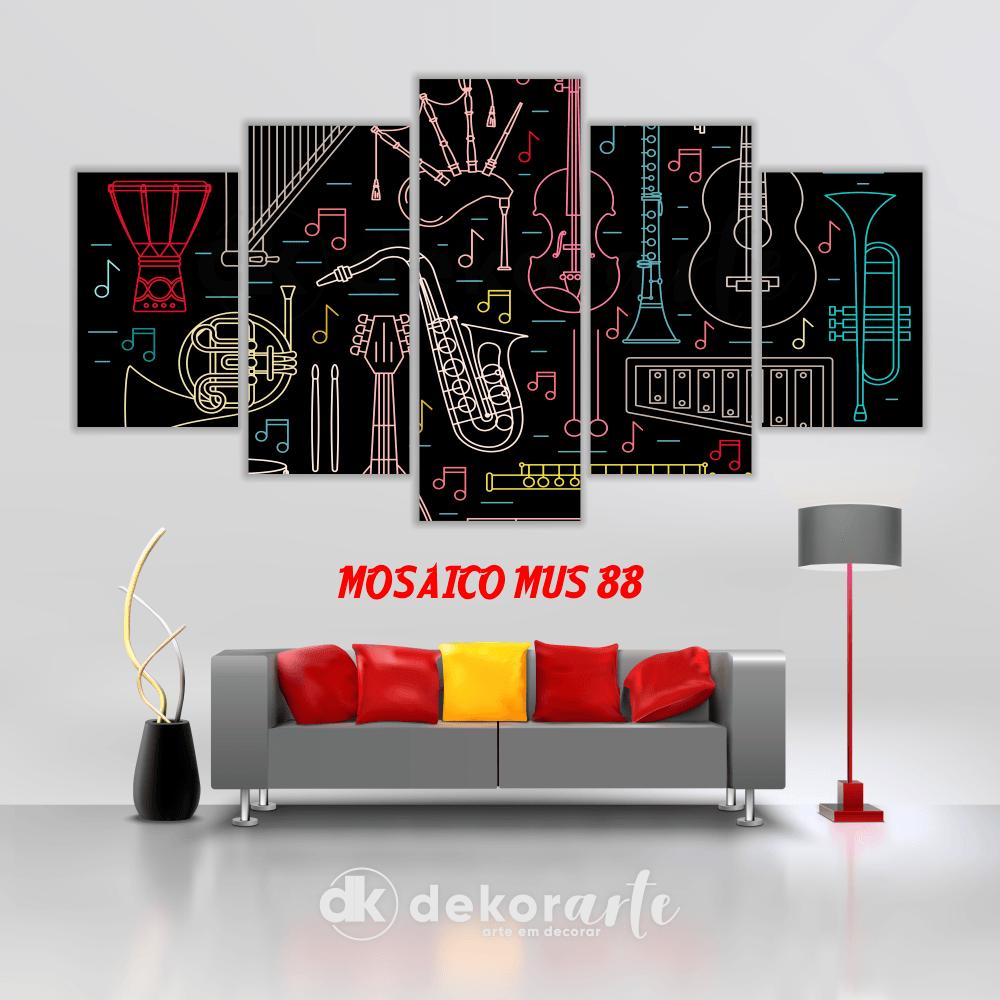 Quadro Mosaico Decorativo MUS88
