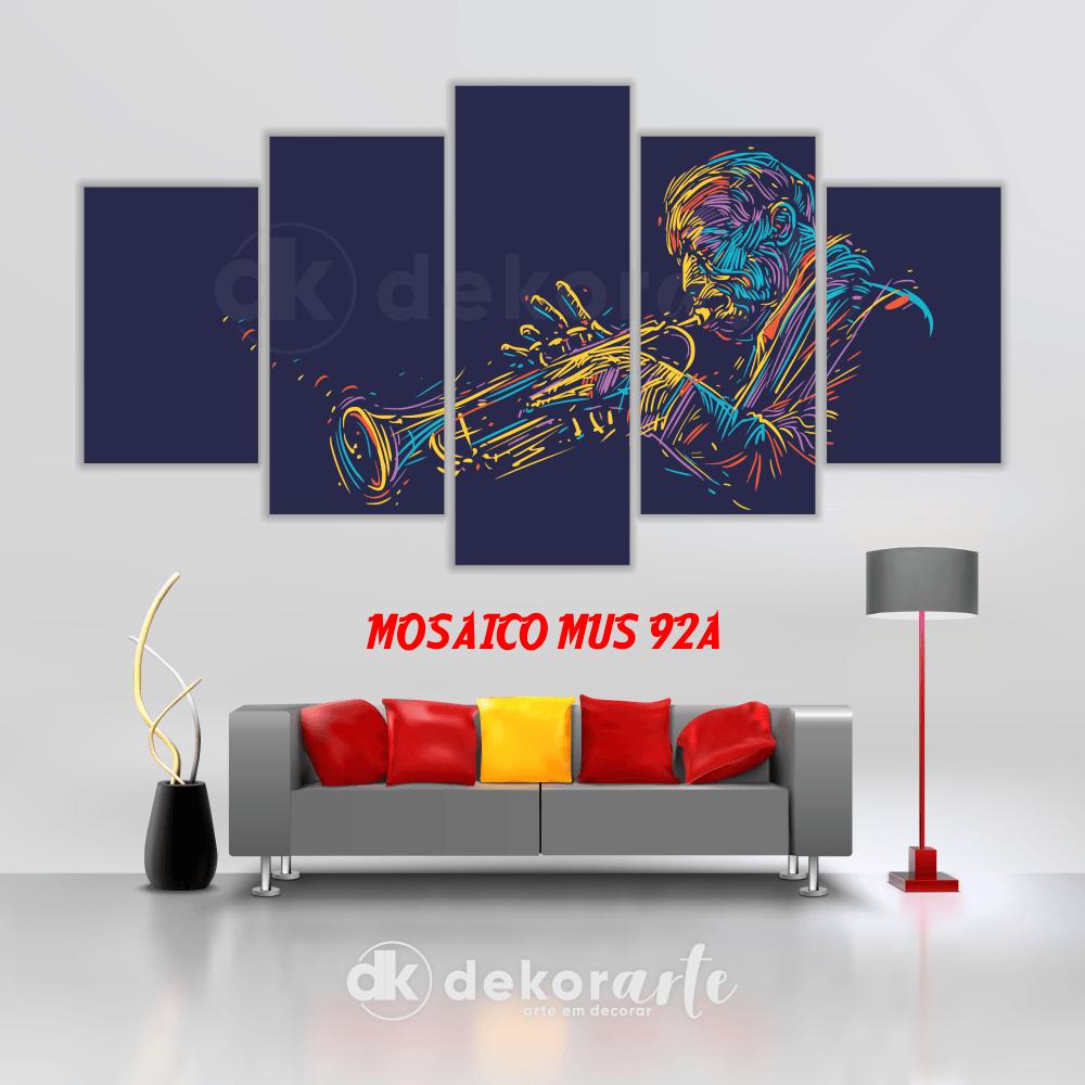 Quadro Mosaico Decorativo MUS92A
