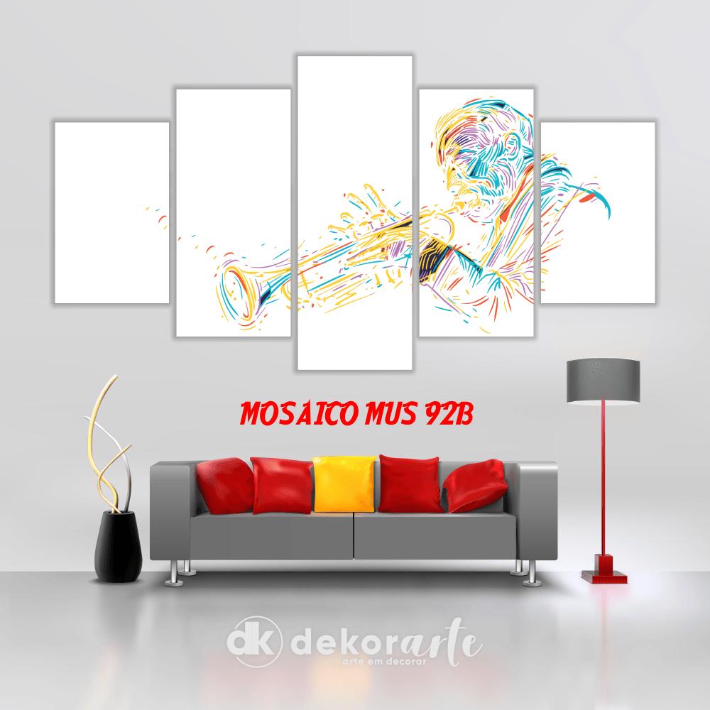 Quadro Mosaico Decorativo MUS92B