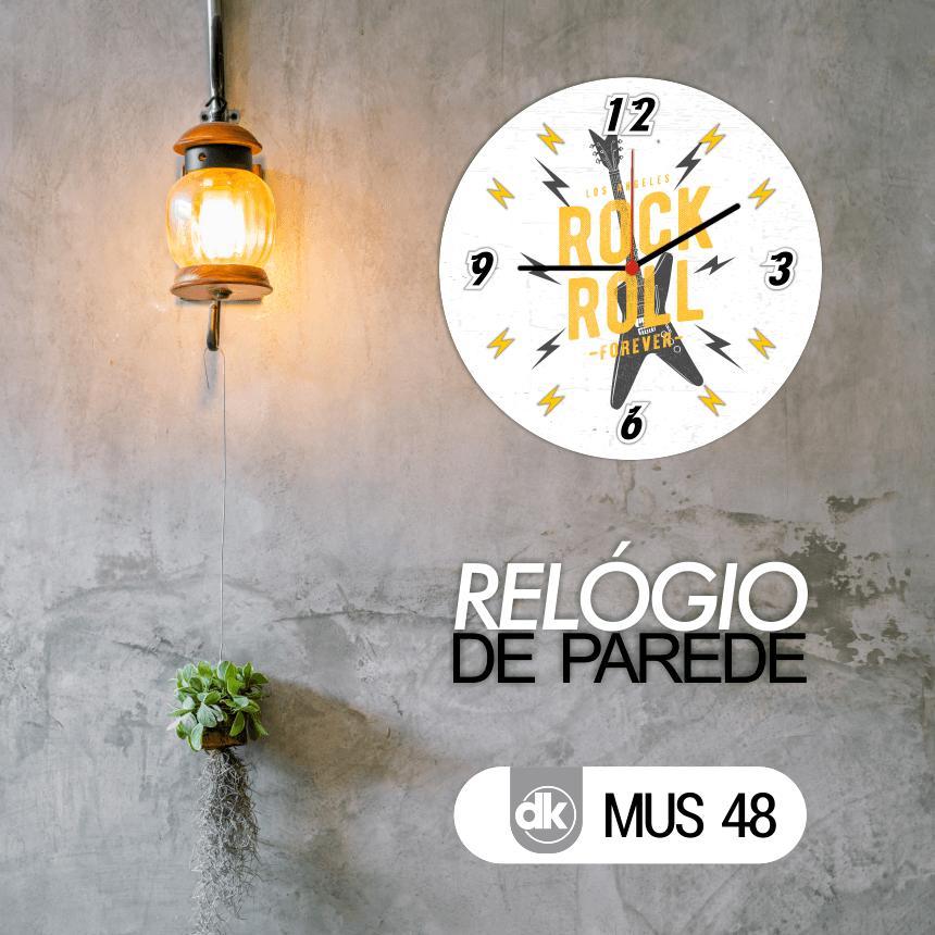 Relógio de Parede Dekorarte MUS48