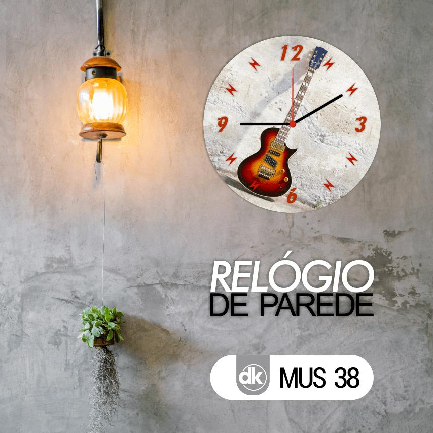 Relógio de Parede Dekorarte MUS38