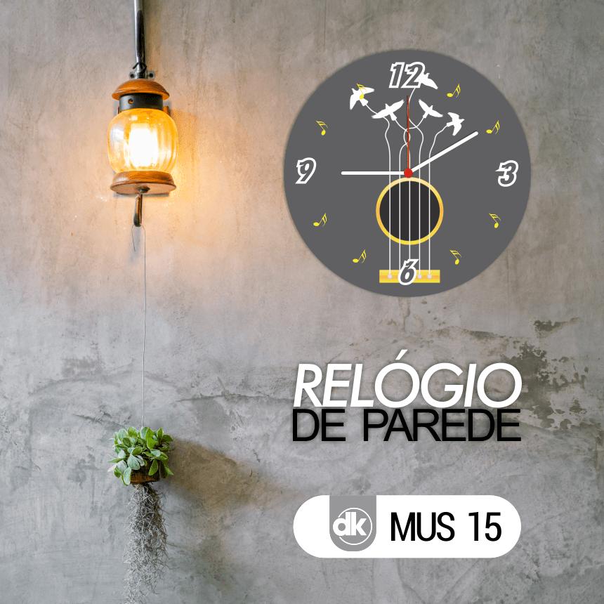 Relógio de Parede Dekorarte MUS15