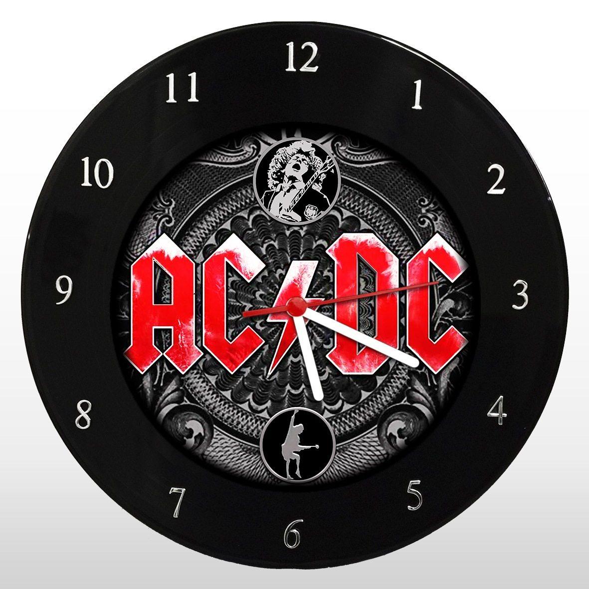 AC/DC - Relógio de Parede em Disco de Vinil - Mr. Rock