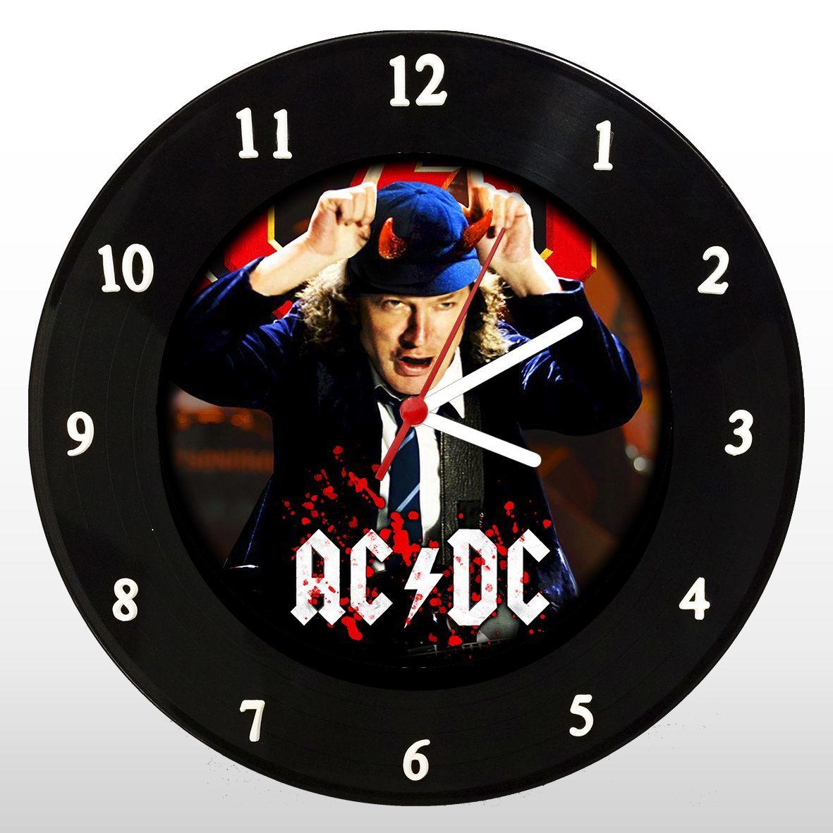AC/DC - Angus Young - Relógio de Parede em Disco de Vinil - Mr. Rock