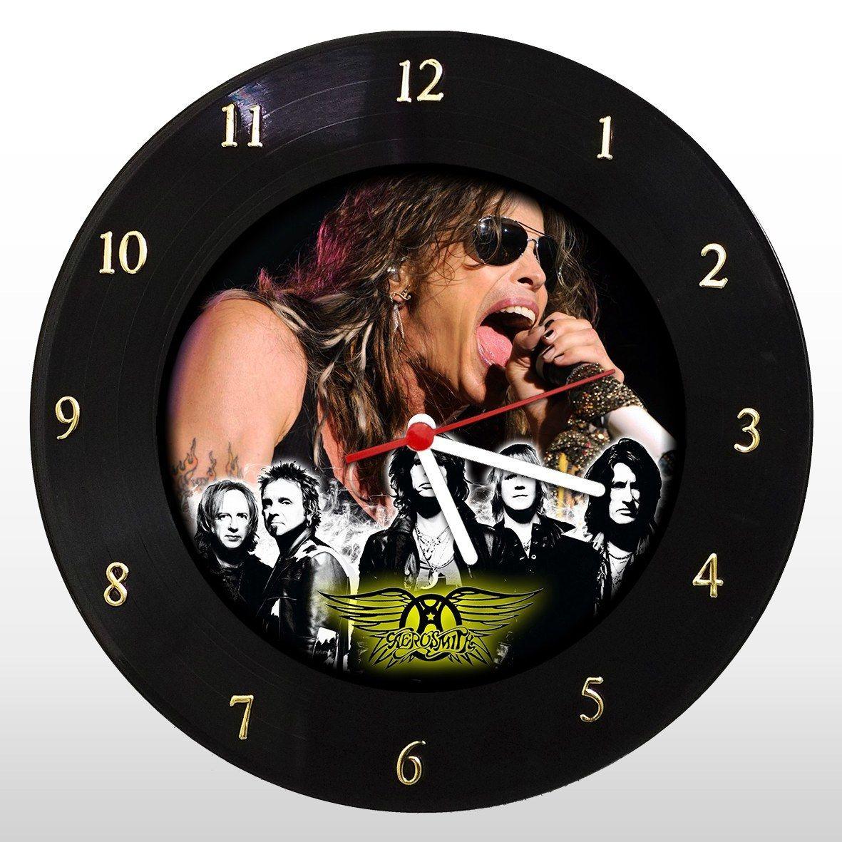 Aerosmith - Relógio de Parede em Disco de Vinil - Mr. Rock
