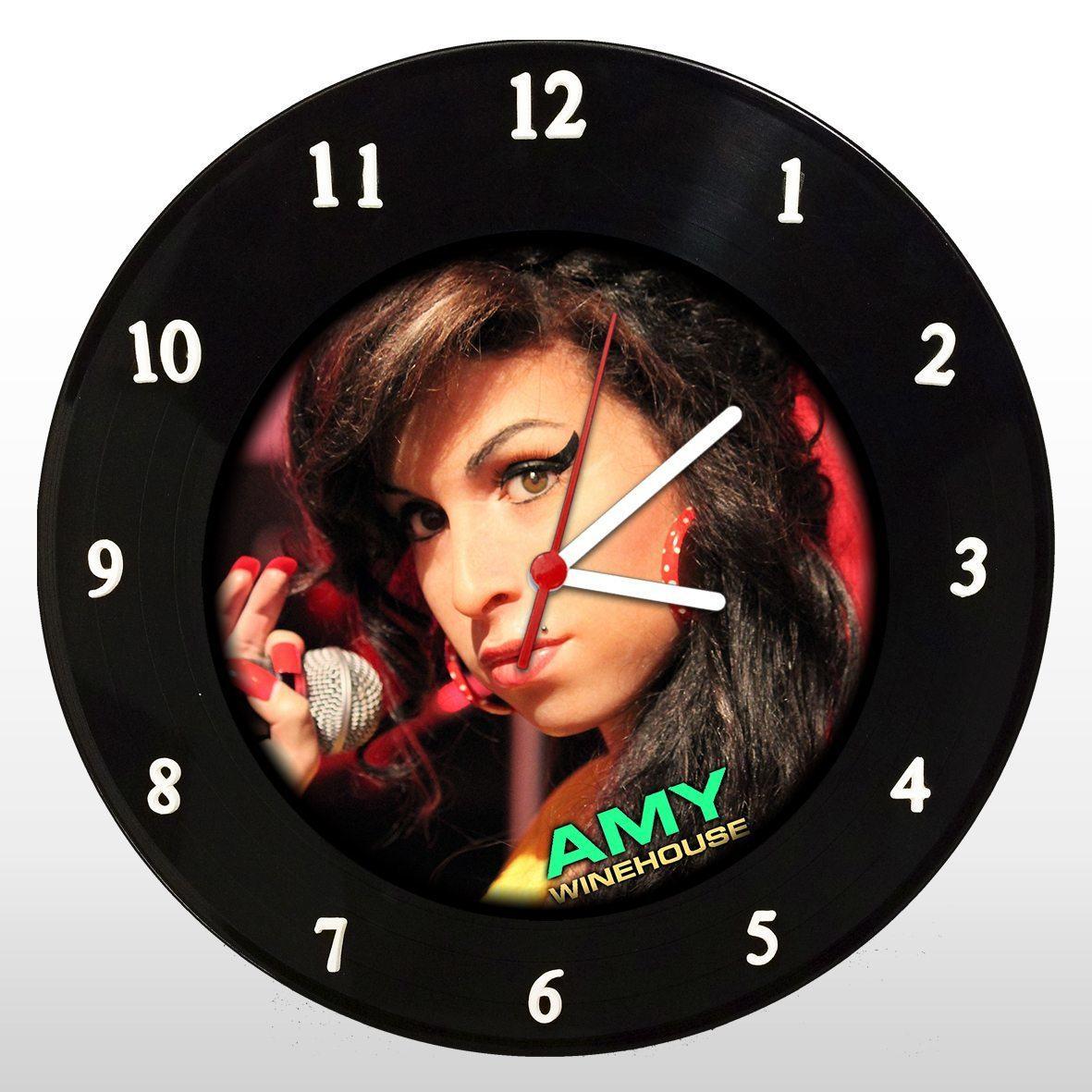 Amy Winehouse - Relógio de Parede em Disco de Vinil - Mr. Rock