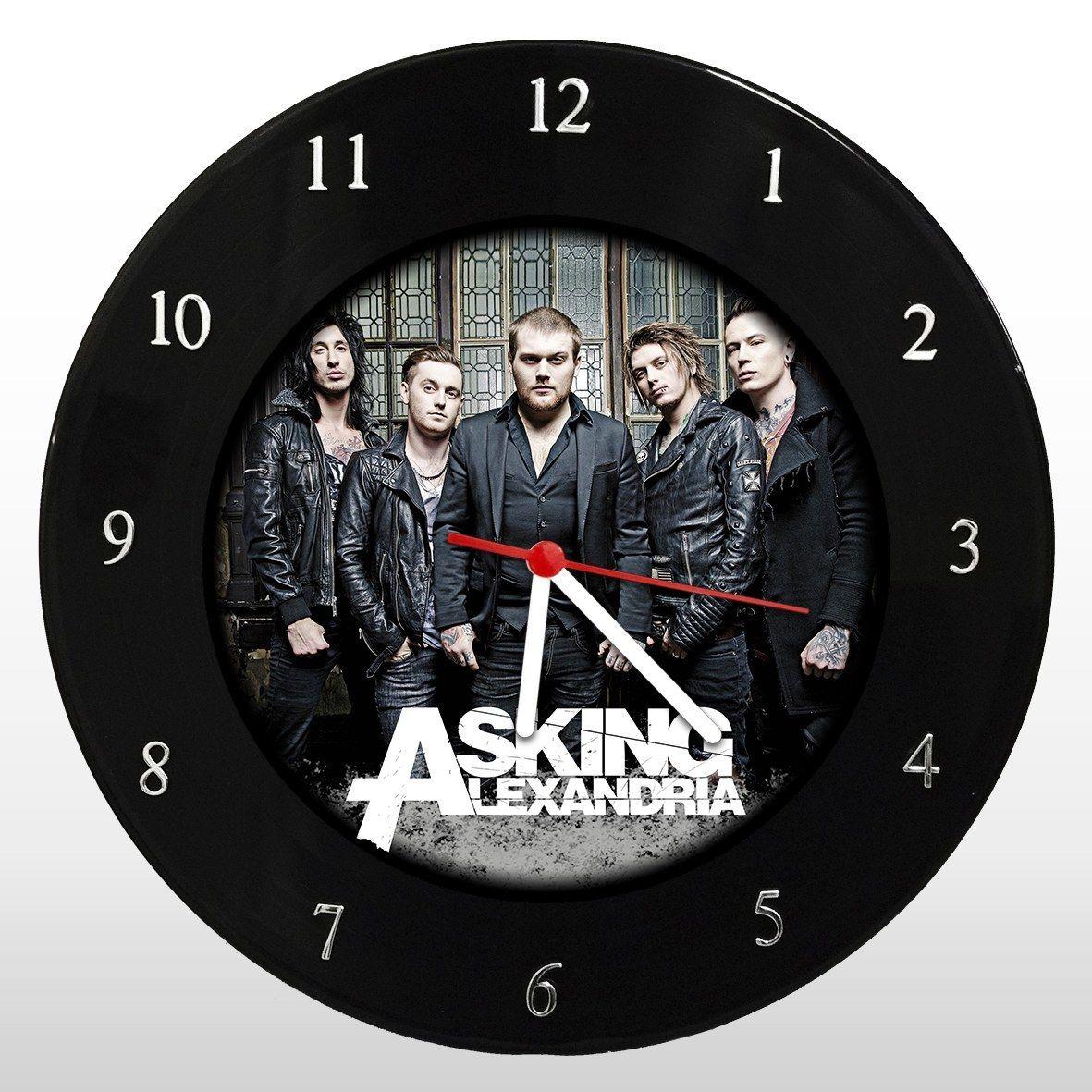 Asking Alexandria - Relógio de Parede em Disco de Vinil - Mr. Rock