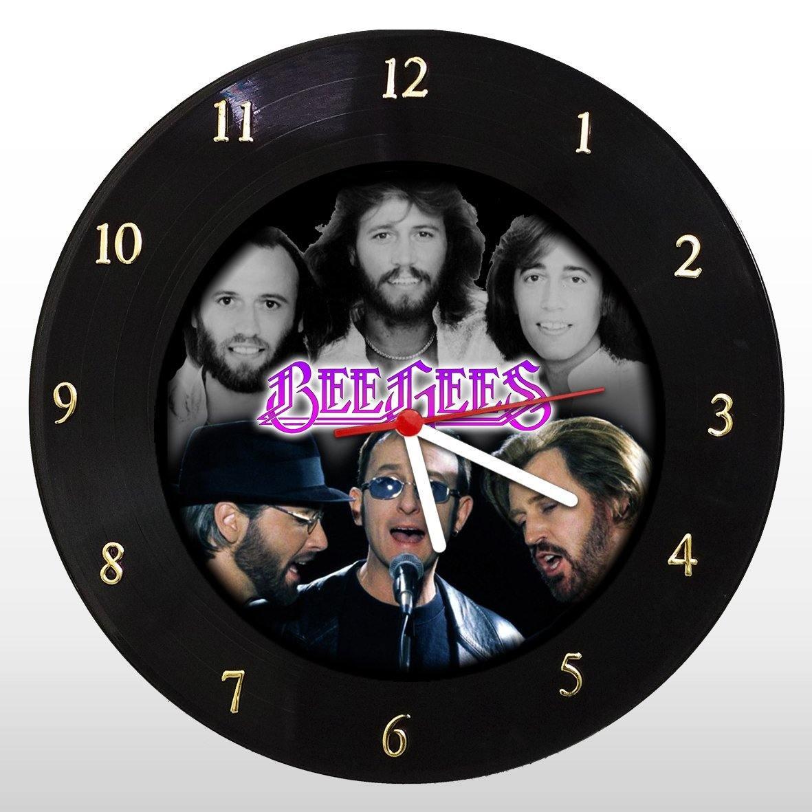 Bee Gees - Relógio de Parede em Disco de Vinil - Mr. Rock
