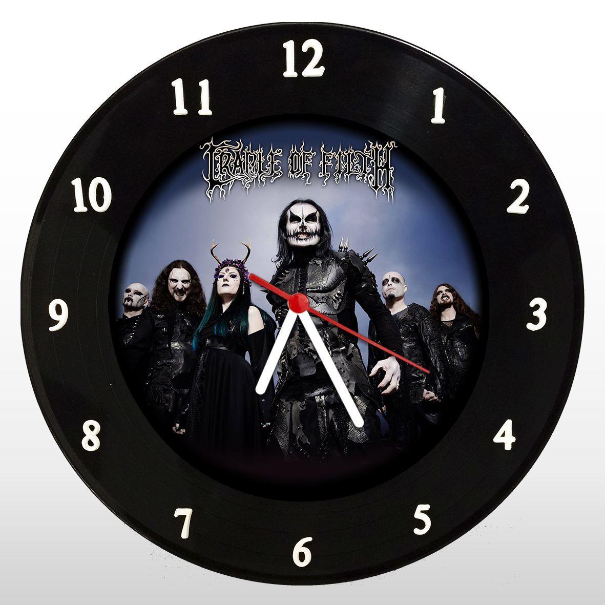 Cradle of Filth - Relógio de Parede em Disco de Vinil - Mr. Rock