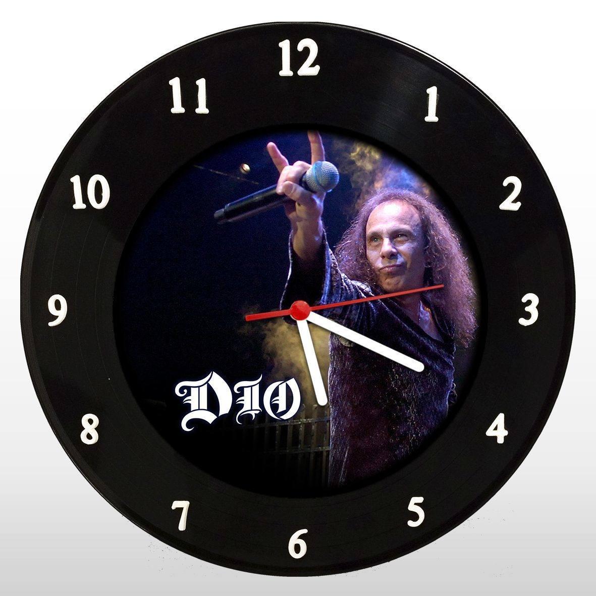 DIO - Relógio de Parede em Disco de Vinil - Mr. Rock
