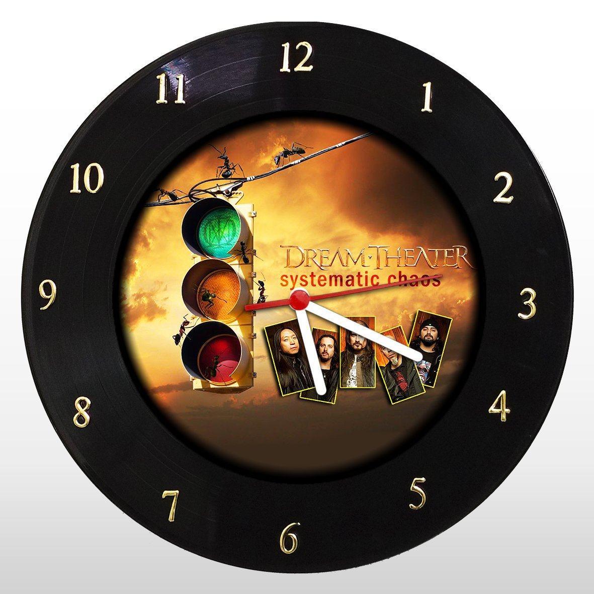 Dream Theather - Relógio de Parede em Disco de Vinil - Mr. Rock