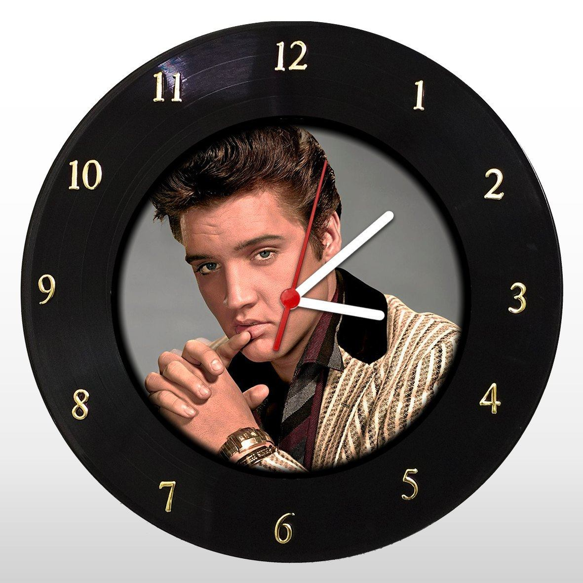 Elvis Presley - Relógio de Parede em Disco de Vinil - Mr. Rock