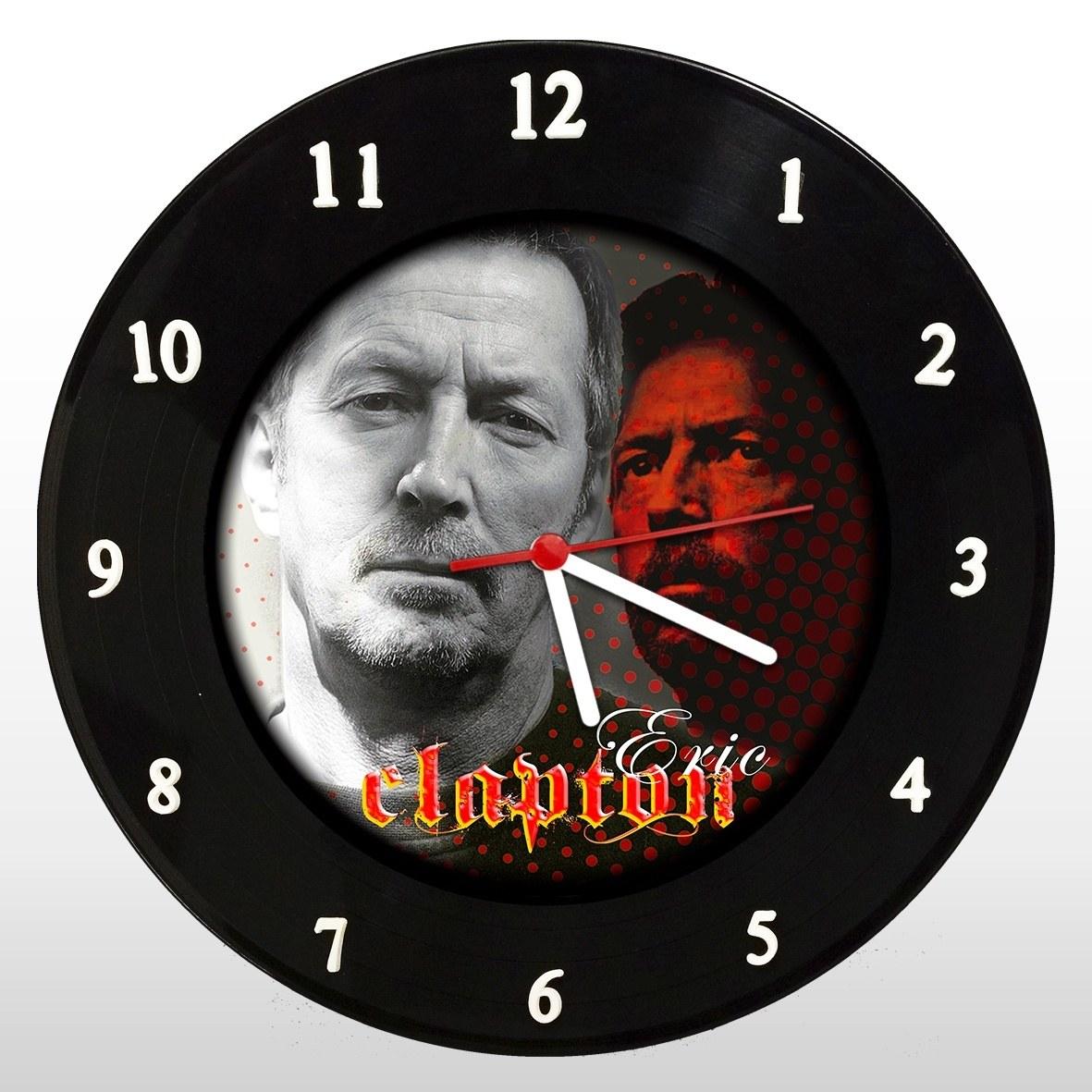 Eric Clapton - Relógio de Parede em Disco de Vinil - Mr. Rock