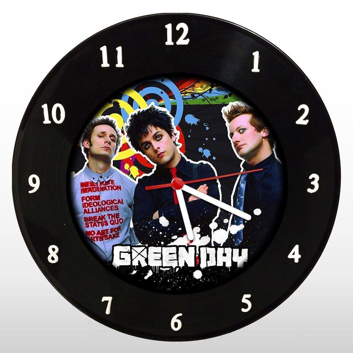 Green Day - Relógio de Parede em Disco de Vinil - Mr. Rock