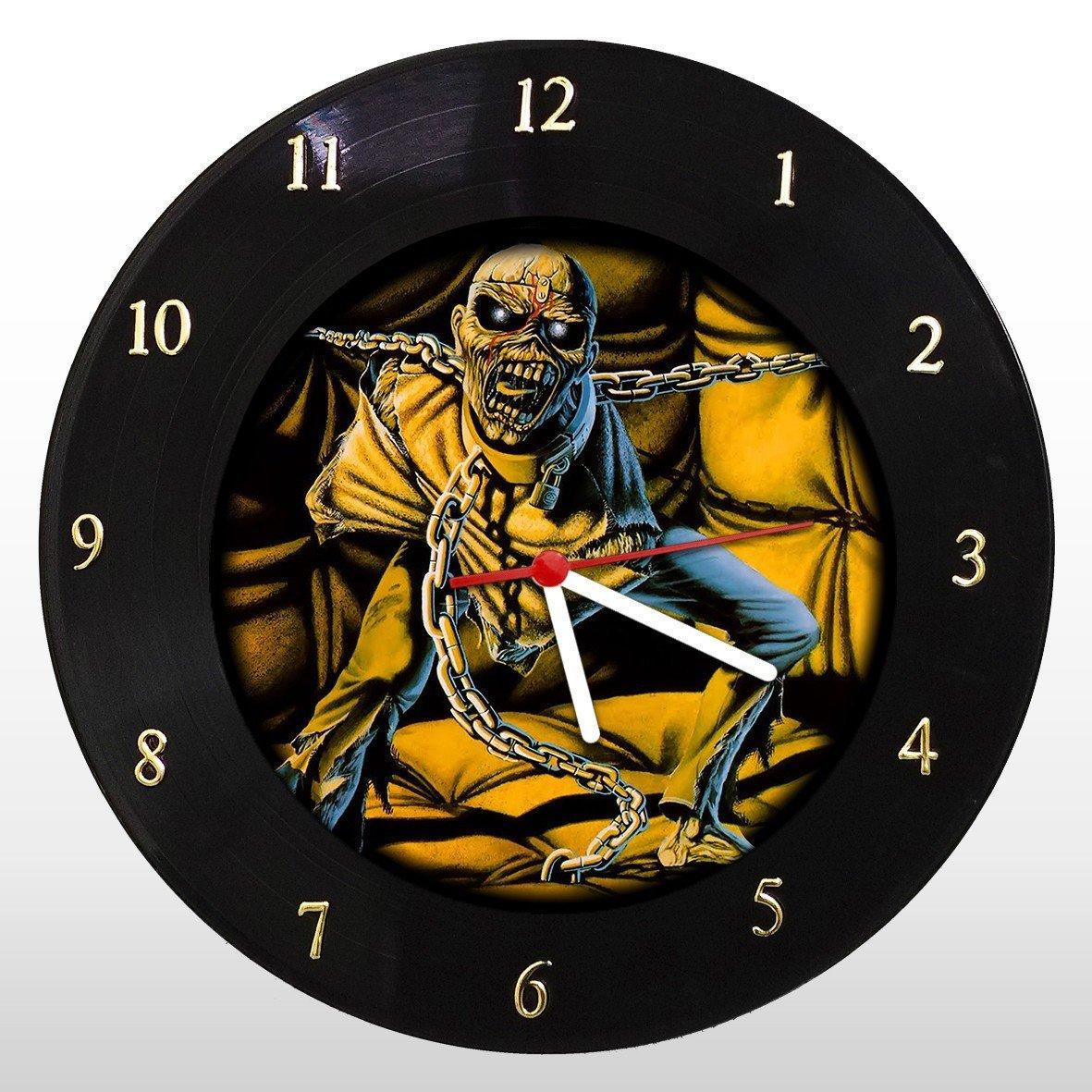 Iron Maiden - Piece of Mind - Relógio de Parede em Disco de Vinil - Mr. Rock