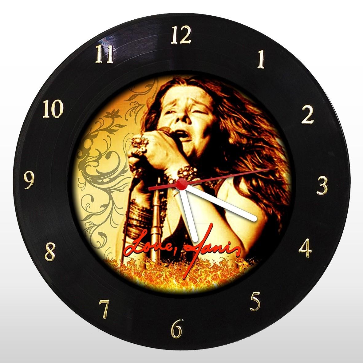 Janis Joplin - Relógio de Parede em Disco de Vinil - Mr. Rock