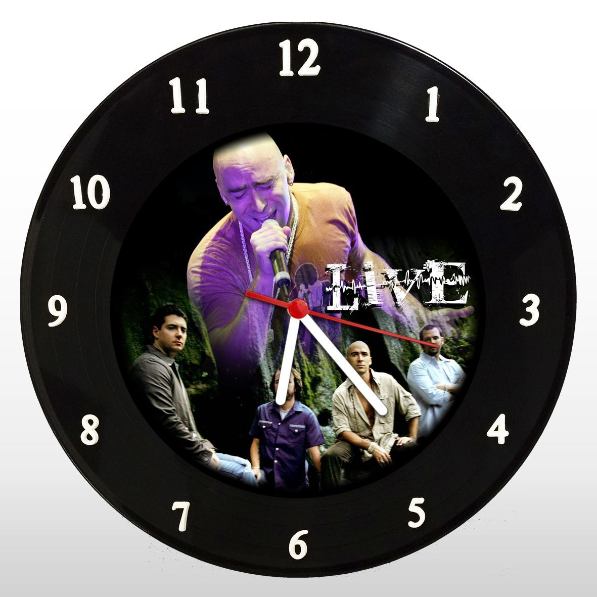 Live - Relógio de Parede em Disco de Vinil - Mr. Rock