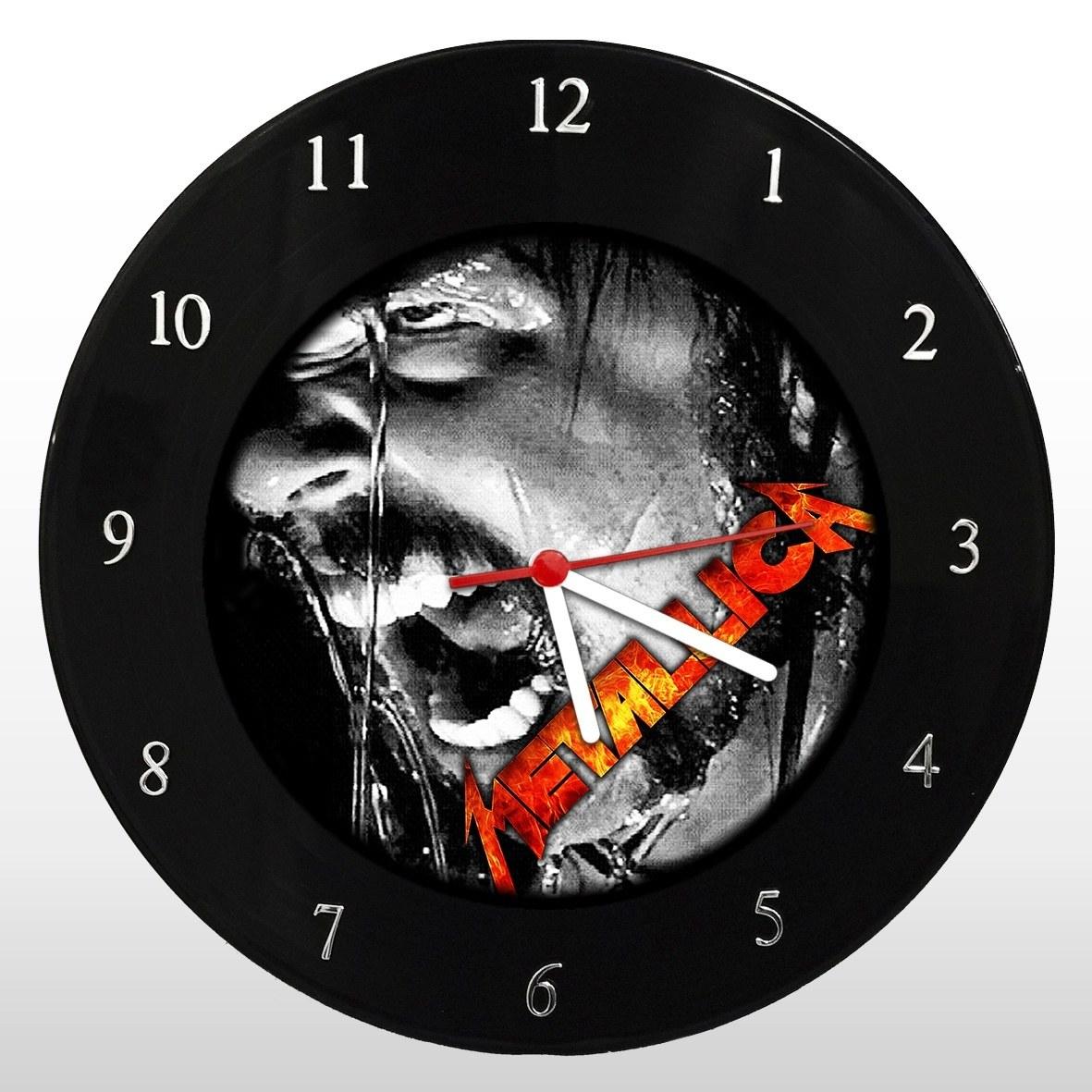 Metallica - Relógio de Parede em Disco de Vinil - Mr. Rock