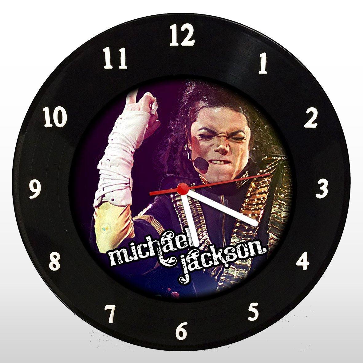 Michael Jackson - Relógio de Parede em Disco de Vinil - Mr. Rock