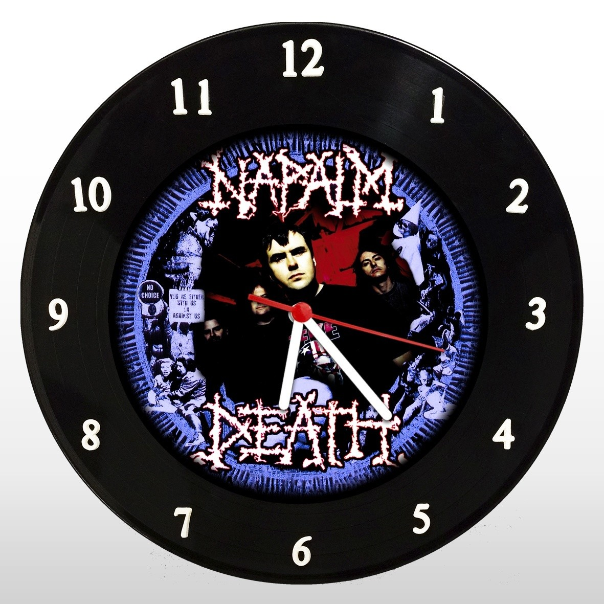Napalm Death - Relógio de Parede em Disco de Vinil - Mr. Rock