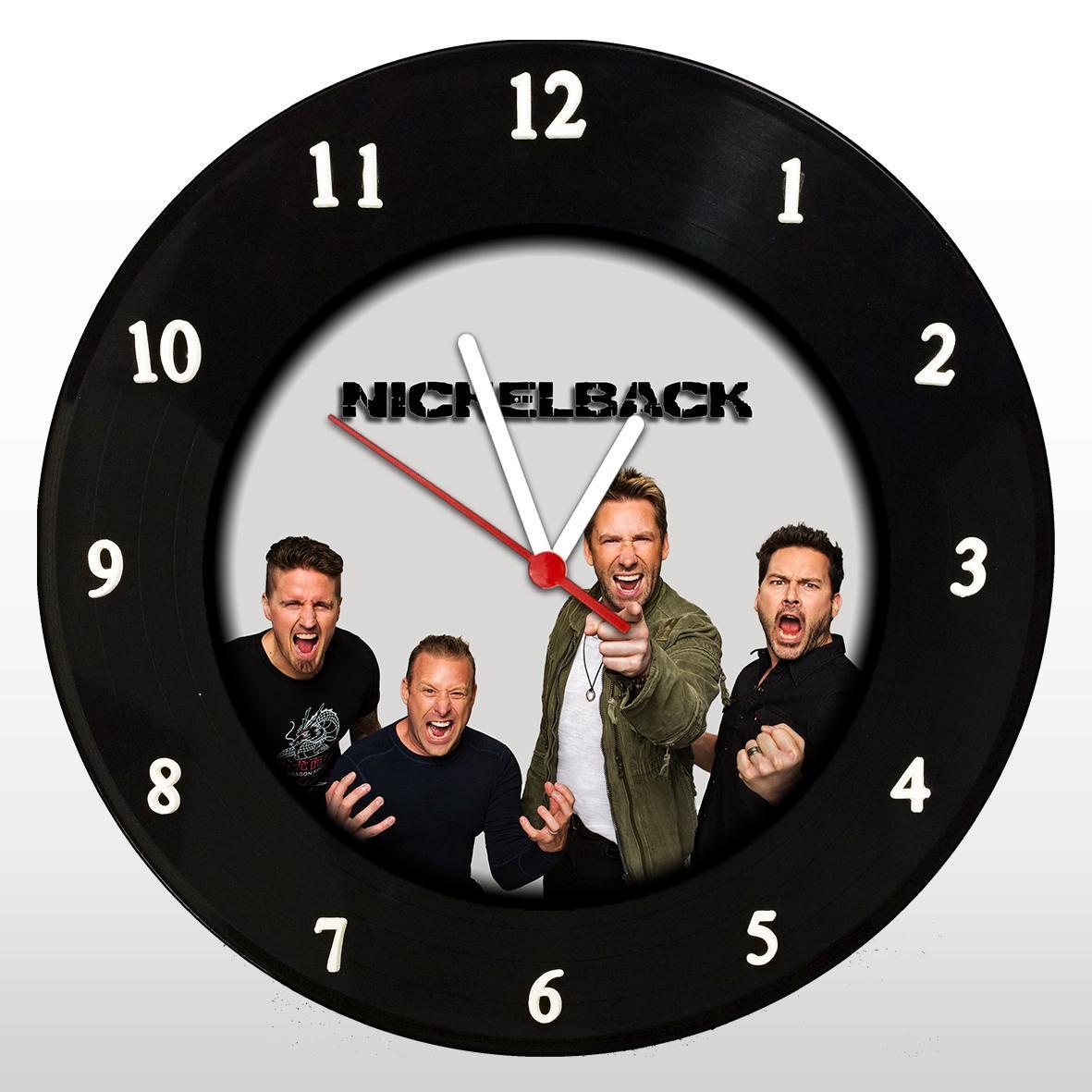 Nickelback  - Relógio de Parede em Disco de Vinil - Mr. Rock