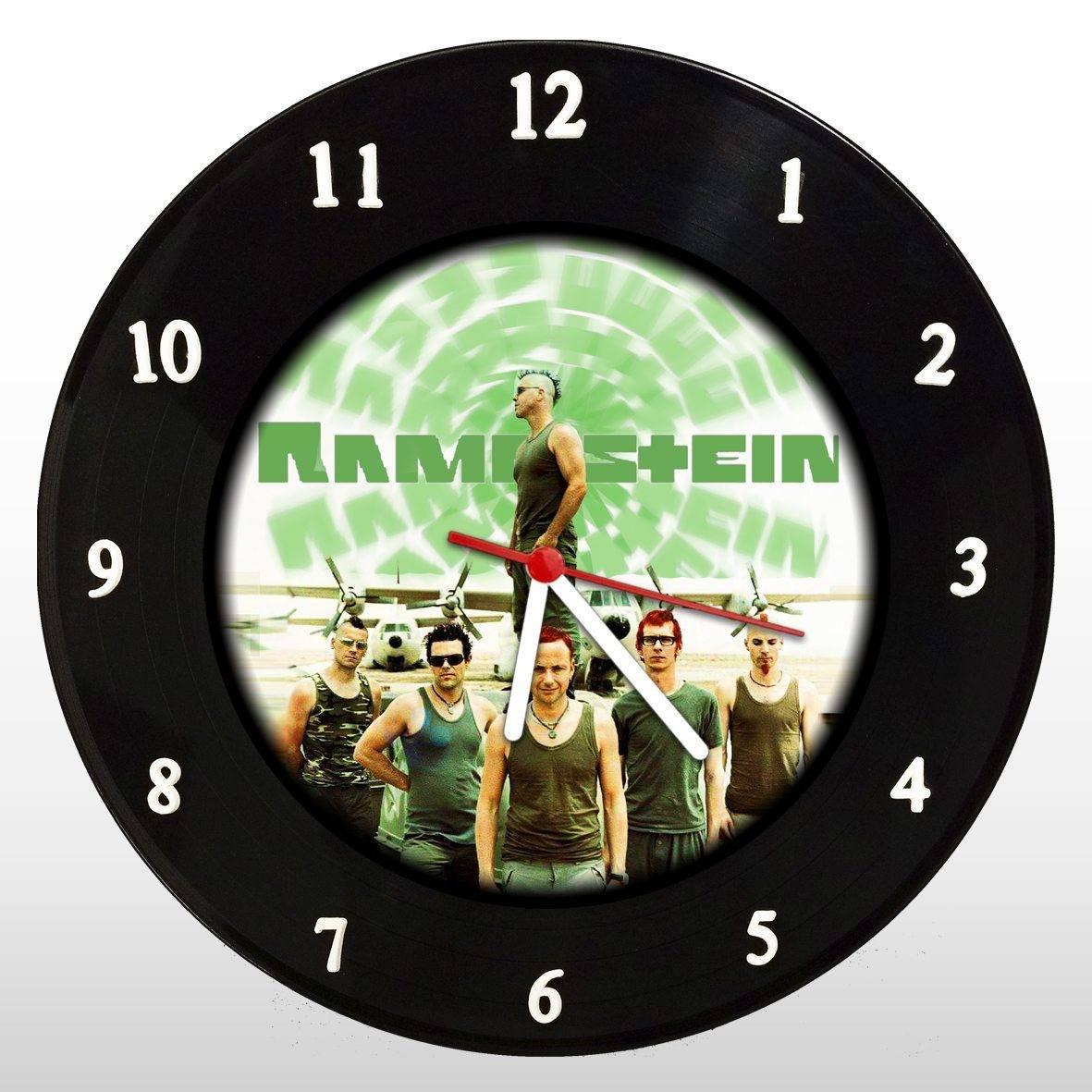 Rammstein - Relógio de Parede em Disco de Vinil - Mr. Rock