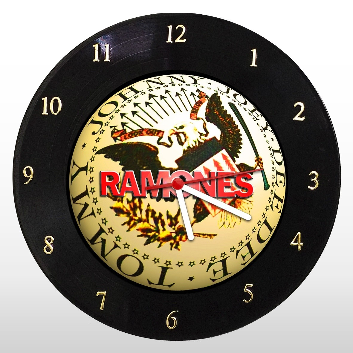 Ramones - Relógio de Parede em Disco de Vinil - Mr. Rock