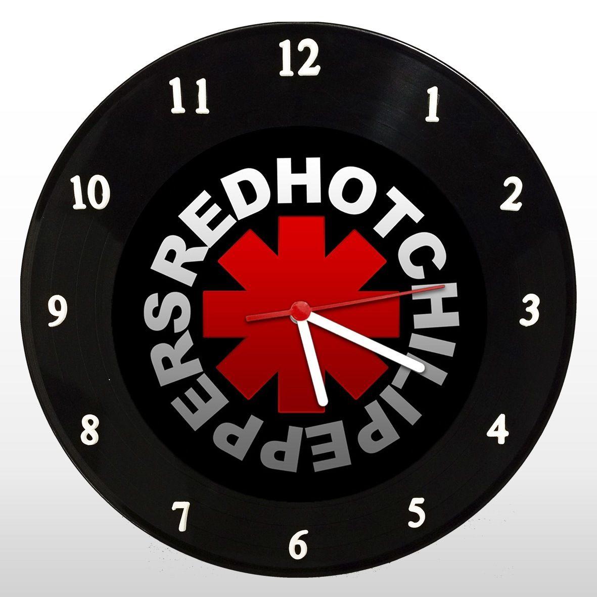 Red Hot Chili Peppers - Relógio de Parede em Disco de Vinil - Mr. Rock