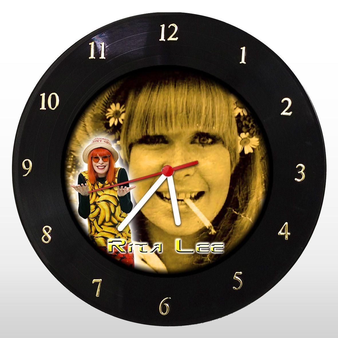 Rita Lee - Relógio de Parede em Disco de Vinil - Mr. Rock