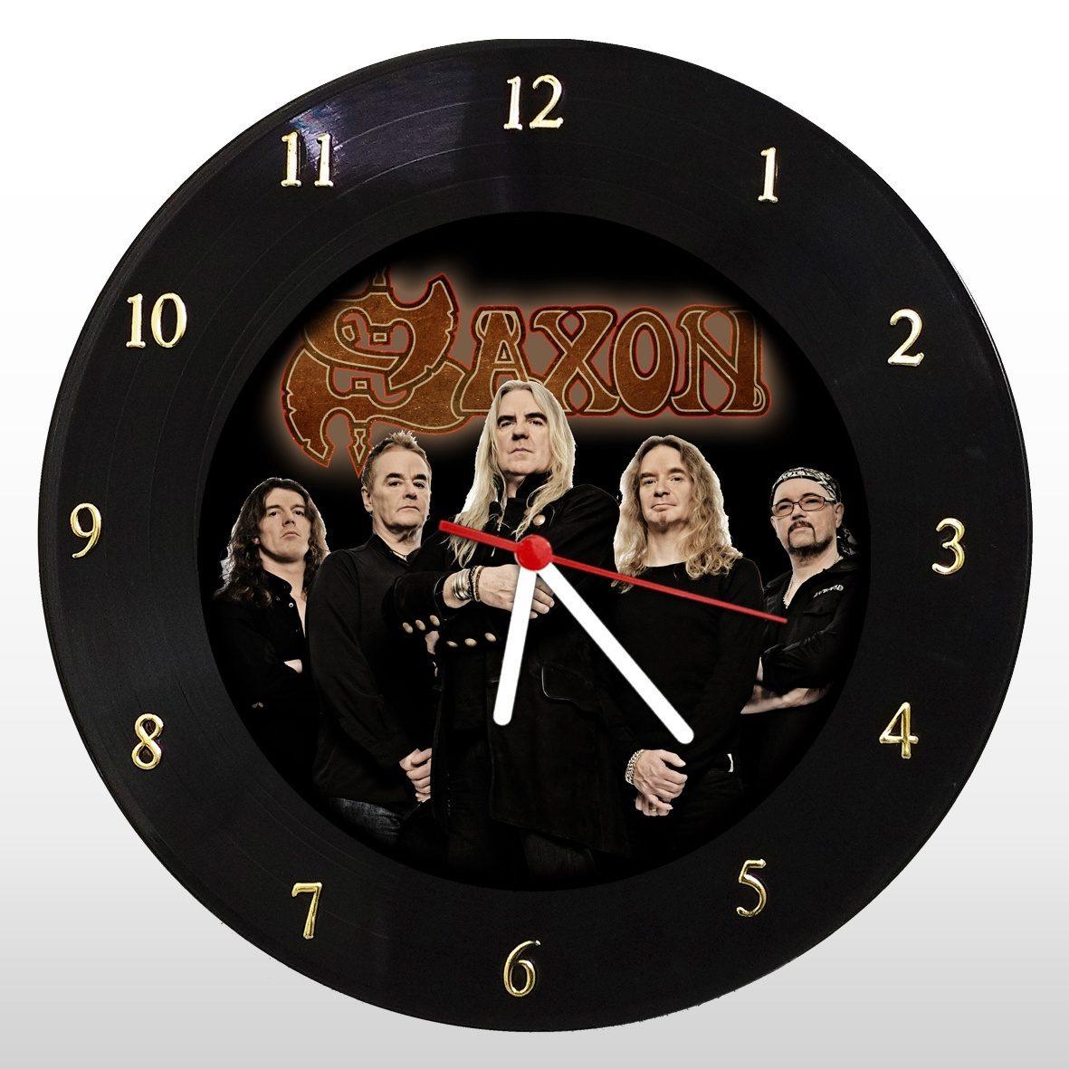 Saxon - Relógio de Parede em Disco de Vinil - Mr. Rock