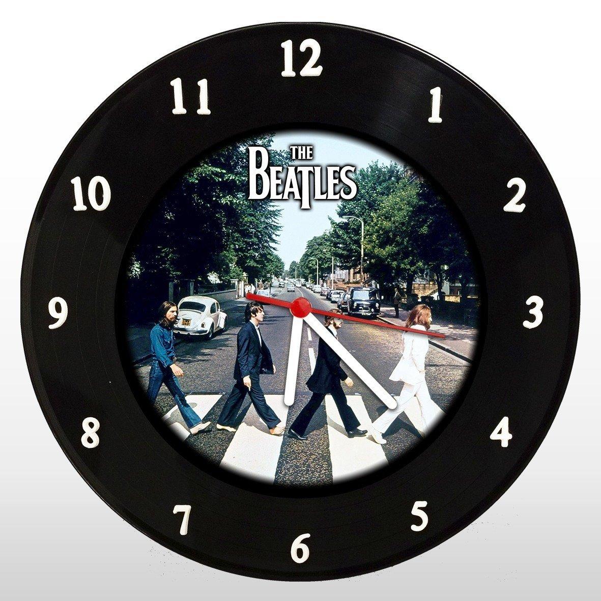 The Beatles - Abbey Road - Relógio de Parede em Disco de Vinil - Mr. Rock