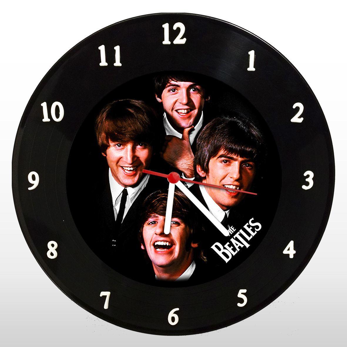 The Beatles - Relógio de Parede em Disco de Vinil - Mr. Rock