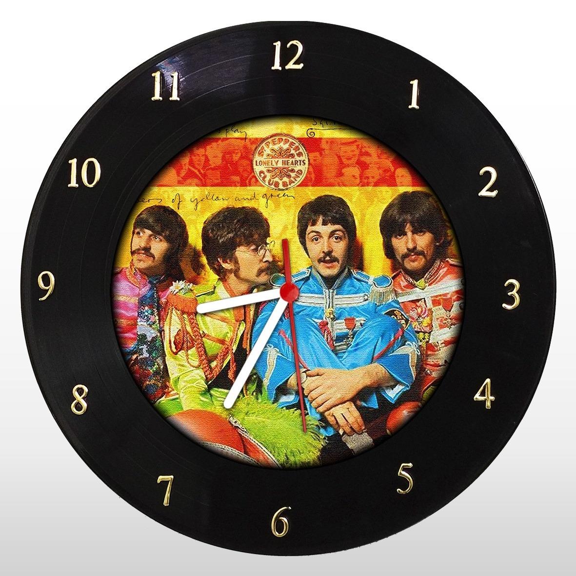 The Beatles - Sargent's Peppers - Relógio de Parede em Disco de Vinil - Mr. Rock