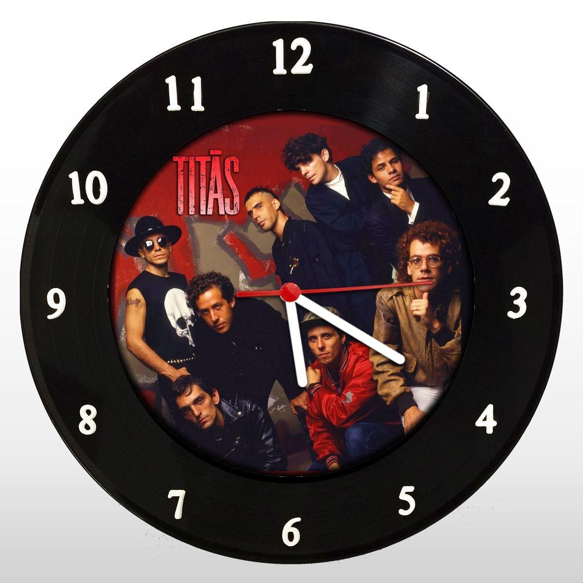 Titãs - Relógio de Parede em Disco de Vinil - Mr. Rock