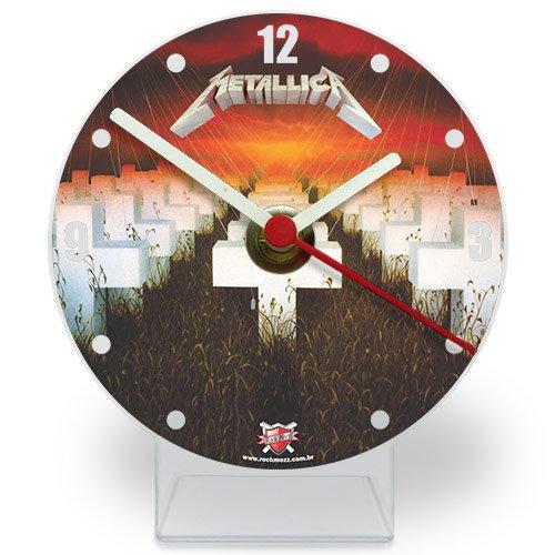 Relógio de Mesa Metallica Master of Puppets em Acrílico