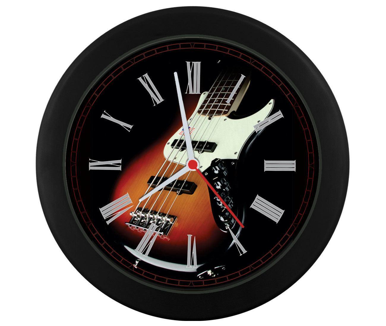 Relógio parede Contrabaixo Jazz Bass Sunburst