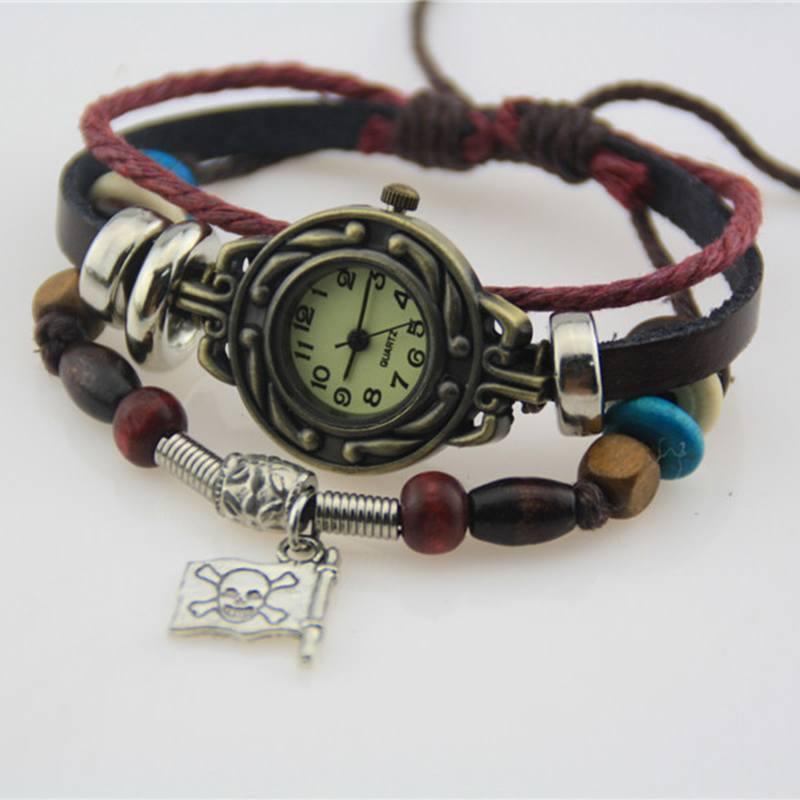 Relógio Skull Bandeira Pirata - SkullAchando