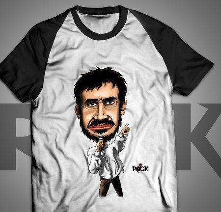 Camiseta Exclusiva Mitos do Rock Renato Russo Legião Urbana