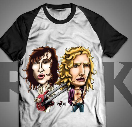 Camiseta Exclusiva Mitos do Rock Robert Plant Jimmy Page Led Zeppelin