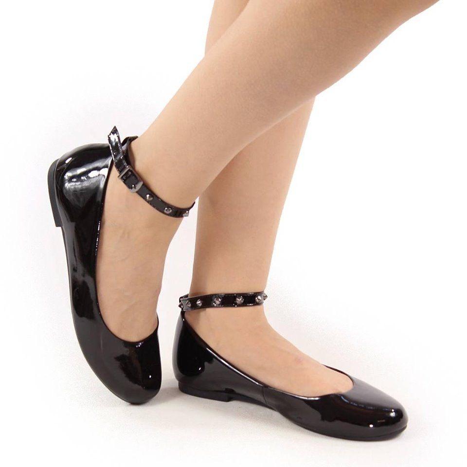 Sapatilha em Vinil com Spikes- Rock Road Shoes