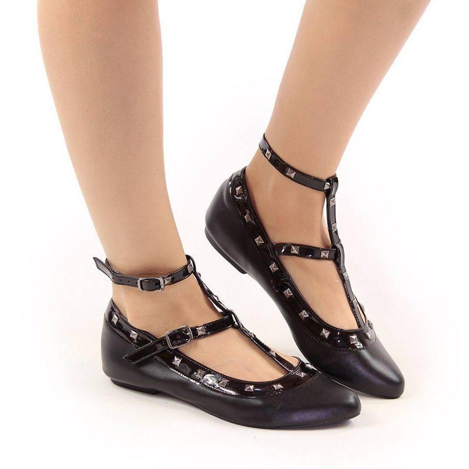 Sapatilha Vegana com Detalhes em Vinil Tornozelo- Rock Road Shoes