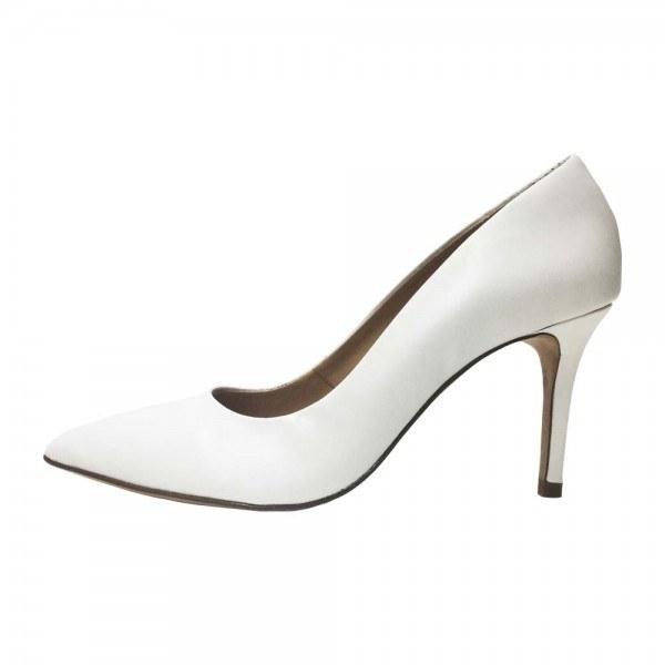 Scarpin Salto Médio Conceito Fashion Napa Branco Feminino