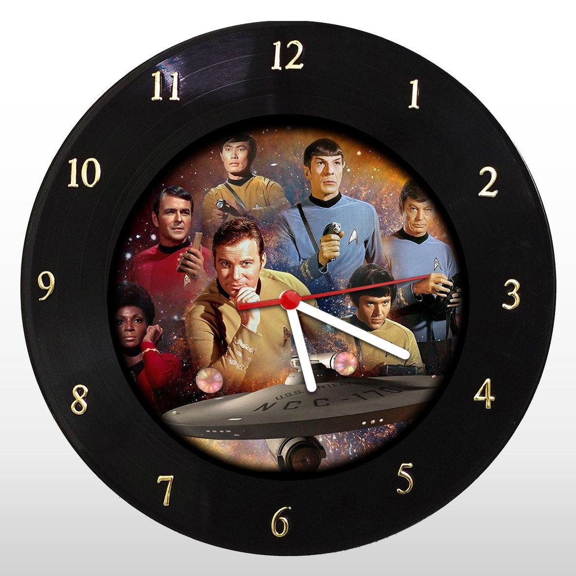 Star Trek - Jornada Nas Estrelas - Relógio de Parede em Disco de Vinil - Mr. Rock